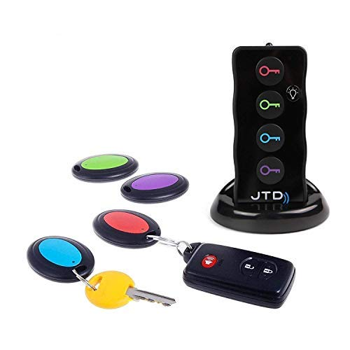 - JTD Wireless RF Item Locator/Key Finder with LED Flashlight and Base Support. with 4 Receivers Key Finder-Wireless Key RF Locator, Remote Control, Pet, Cell, Wireless RF Remote Item, Wallet Locator