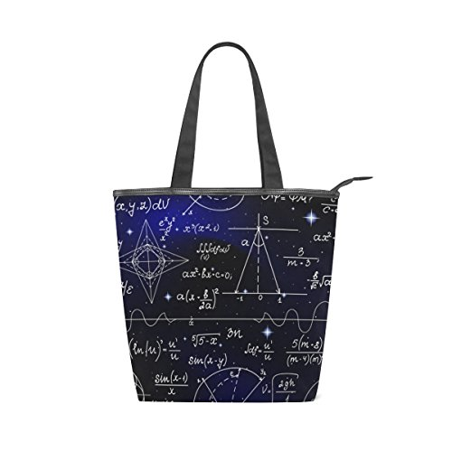 Canvas Mathematical Tote Shoulder Formulas Canvas Tote MyDaily Womens Shoulder Handbag Mathematical Bag MyDaily Bag wqvpnEI