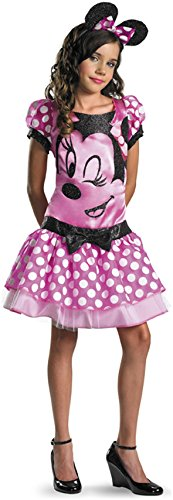 Pink Minnie Mouse Child Costume - (Minnie Mouse Costume For Tweens)