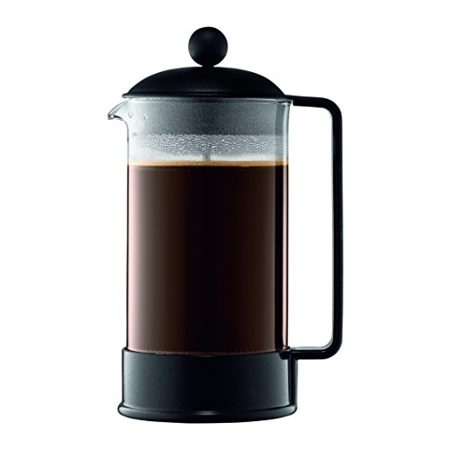 Bodum 1548-01US Brazil French Press Coffee and Tea Maker, 34 Ounce, Black ()