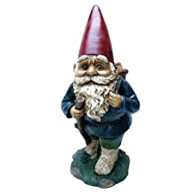 Michael Carr Designs 80039 Garrold Gnome with Basket Outdoor Statue