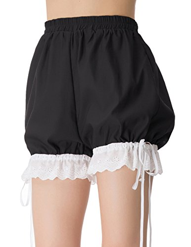 (Women Bloomers Vintage Cosplay Victorian Colonial Shorts Short Pants M)