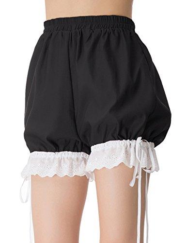 Women Vintage Bloomers Steam Punk Leggings Renaissance Costume Shorts 2XL Black ()