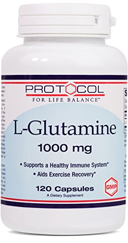 Protocol For Life Balance - L-Glutamine 1000 mg - Supports a Healthy Immune System and Gastro-Intestinal Health while Aiding Exercise Recovery - 120 Capsules