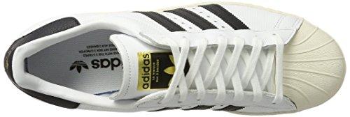 Ginnastica Scarpe Superstar Black 80s Uomo Black White adidas Core Core Basse Bianco Footwear da TqIBBxA