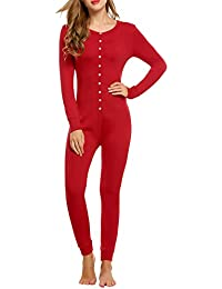 Amazon.com: Red - Thermal Underwear / Lingerie, Sleep & Lounge ...