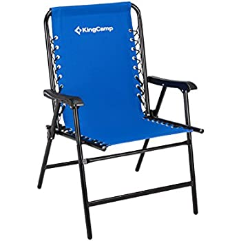 kingcamp sports suspension backrest portable folding chair blue weight capacity 265 lbs 99