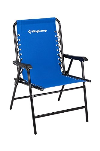 KingCamp Sports Suspension Backrest Portable Folding Chair, Blue, Weight Capacity 265 lbs, 9.9 lbs