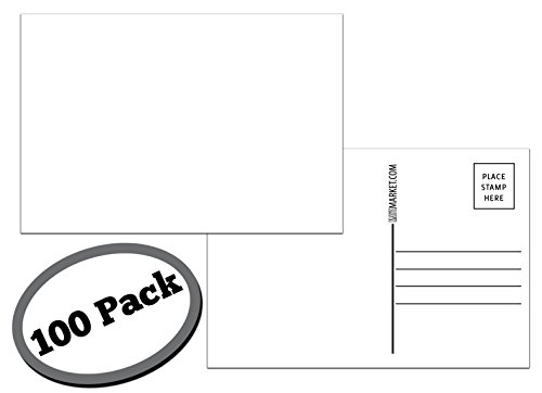 100 Pack of Blank Postcards. Each Post Card in This Patriotic, Bulk Set is 4 x 6, USPS Compliant (mailable), and Made in USA. Mail to Voters to get Votes. Flip Side is Plain White and unused. (Blank)]()