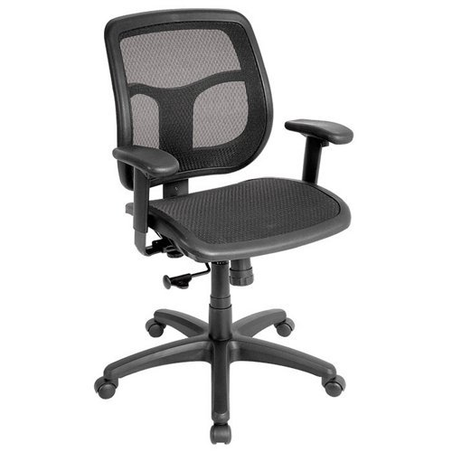 Eurotech Seating Apollo Collection Ergonomic Mid-Back Black Mesh Task Chair with Black Frame - Eurotech Seating Ergonomic Chair