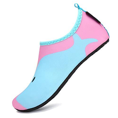 SAGUARO Boys Girls Barefoot Water Shoes Quick Dry Non-Slip Aqua Socks Outdoor Sports Beach Swimming Pool