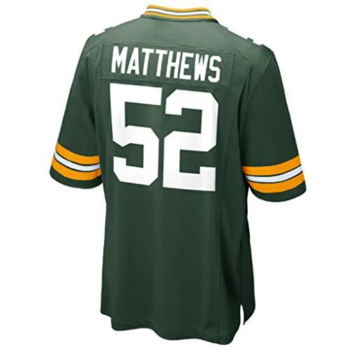 - Clay_Matthews_Green #52 Fans Jersey Sportswears Football Game Jerseys