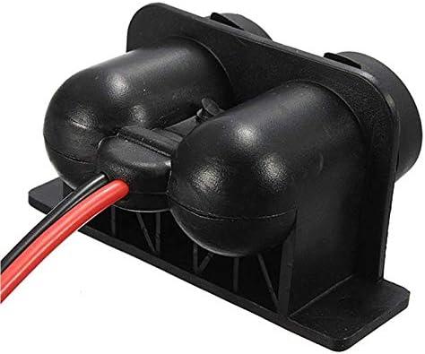PQZATX Zigarettenanz/üNderbuchse 12V wasserdichte Doppelsteckdose mit Kabel f/ür Auto Motorrad Roller Boot ATV Rv