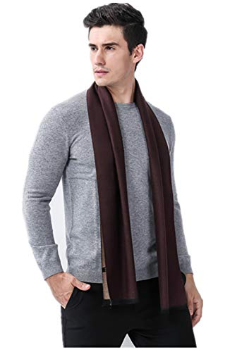 (Mens Soft Scarf For Autumn And Winter-Classic Business Casual Warm Men Scarf (Brown))