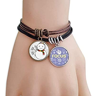 SeeParts Weather Snowman Snowflake Illustration Bracelet Rope Wristband Force Handcrafted Jewelry Estimated Price £9.99 -