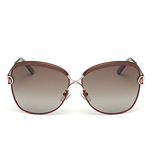 A-Roval Women Polarized Round Large Fashion Metal - Sun Glass Raybon