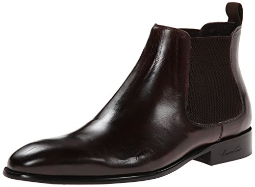 Kenneth Cole New York Men's Wheel S Up Leather Chelsea Boot, Brown, 10 M (Kenneth Cole New York Pull)