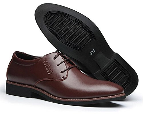 Zhhuawy Chaussures de Ville Homme Marron 41 DdToeT0