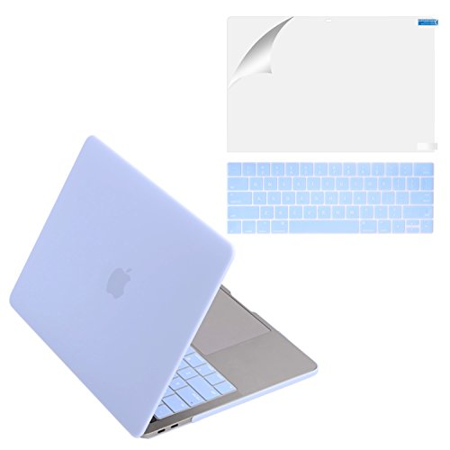 MacBook Pro 13 Case 2017 & 2016 Release A1706/A1708, Mittly Plastic Hard Case Shell Cover with Keyboard Cover &Screen Protector for MacBook Pro 13 Inch with/without Touch Bar & Touch ID, Serenity Blue