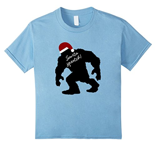 Geeky Halloween Costumes For Babies (Kids Funny Bigfoot Santasquatch Shirt, Fun Christmas Gift Shirts 8 Baby Blue)