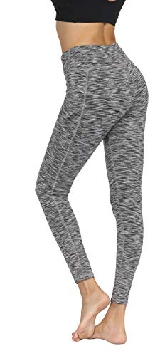 Fengbay High Waist Yoga Pants, Pocket Yoga Pants Tummy Control Workout Running 4 Way Stretch Yoga Leggings (X-Small, 1554 Gery) by Fengbay (Image #3)