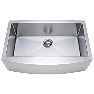 Franke Kinetic 33 Apron Front Farm House Single Bowl Kitchen Sink, Stainless Steel