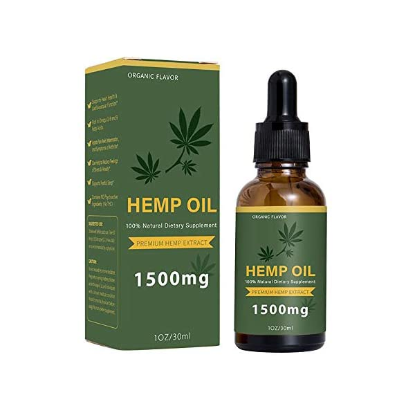 MJTP Hemp Natural Oil,High Strength Hemp Extract,Pure and Natural Helps with Sleep,Reduces Pain, Anxiety and Stress,30ml (2PCS)