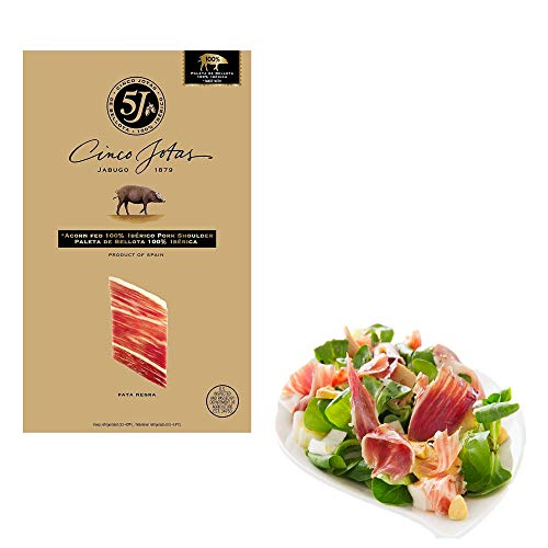 - Cinco Jotas Paleta Iberico De Bellota - 2 packs x 3 oz each - Sliced Ham Acorn Fed Premium Taste Pork Shoulder Bundle