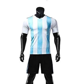 GDSQ Versión De Ventiladores De La Copa Mundial 2018 Camiseta De Argentina Camiseta Corta De Uniforme De Fútbol De Jersey: Amazon.es: Deportes y aire libre