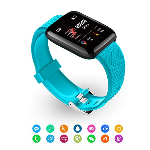 Fitness Wristband Watch with Heart Rate Monitor Waterproof Fitness Tracker Activity Tracker Heart Rate Monitor Bluetooth…