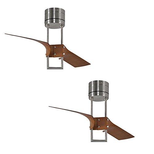 Com Set Of 2 Harbor Breeze Revel Island 52 In Brushed Nickel Flush Mount Ceiling Fan With Remote Everything Else