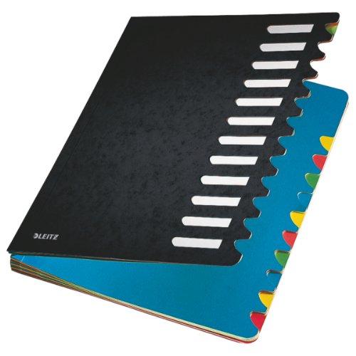 Leitz 59120095 Deskorganizer Color 1-12, 12 Fächer, Karton, schwarz