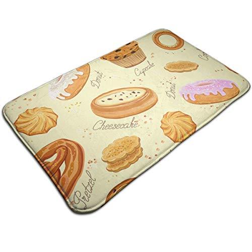 AZOULA Dessert Pattern Indoor Outdoor Doormat Welcome Doormat Bathroom Mats (Machine-Washable/Non-Slip) 31.5