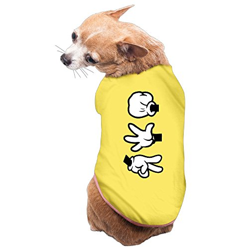 [Rock Paper Scissor Hands Cozy Lovely Design Dogs Apparel Pet Supplies] (Scissors Paper Rock Costume)