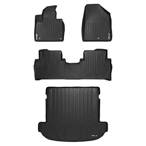 MAX LINER A0191/B0191/D0191 Custom Fit Floor Mats 2 Rows and Cargo Liner Set Black for 2016-2019 Kia Sorento 7 Passenger Model Only
