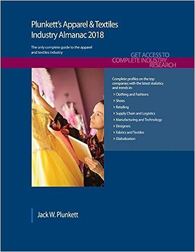 Plunkett's Apparel & Textiles Industry Almanac 2018: Apparel