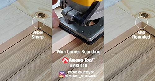 MRR110 Carbide Tipped Miniature Corner Rounding 3//16 Radius x 9//16 Dia x 3//8 Amana Tool