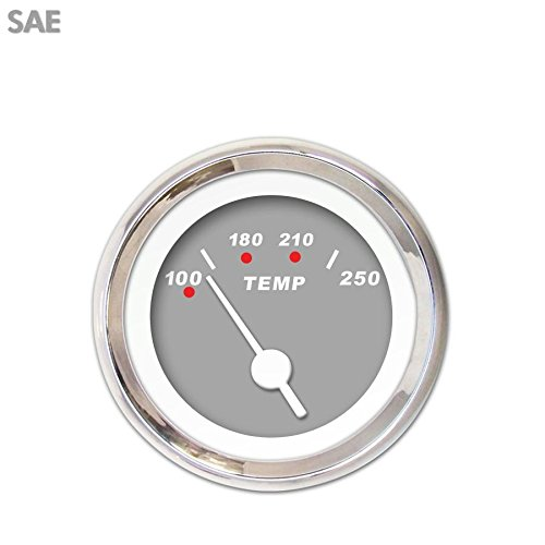 Aurora Instruments GAR117ZEXLABAD Modern Rodder Gray Water Temperature Gauge