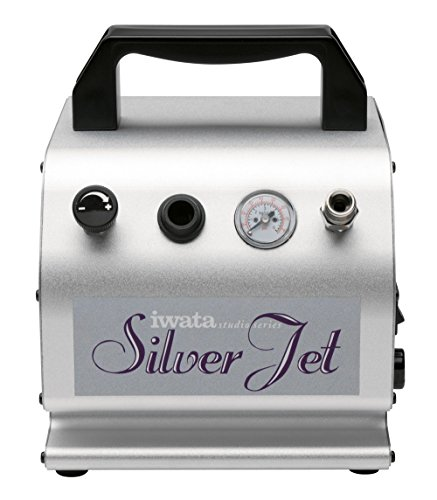 (Iwata-Medea Studio Series Silver Jet Single Piston Air Compressor )