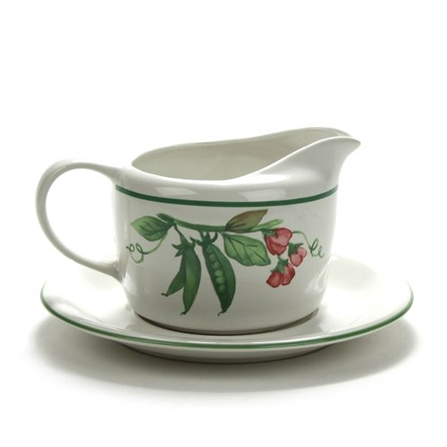 Breeze Gravy Boat (Garden Breeze by Pfaltzgraff, Stoneware Gravy Boat & Tray)