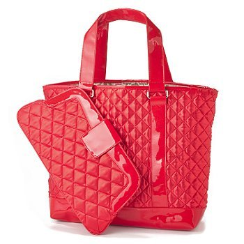 perlina-quilted-satin-tote-matching-clutch-purse-set-red