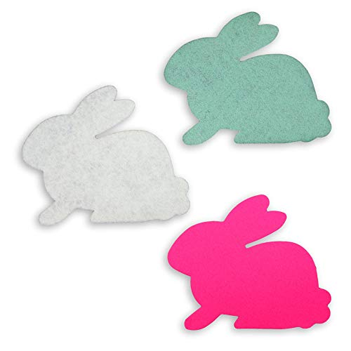 Assorted Easter Bunny Rabbit Felt Craft Shapes Kit