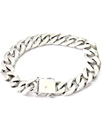 Gift Wrist Handmade Bracelet for Guys Men Sterling Silver 925 Punk Hard Rock Big Bike Friendship