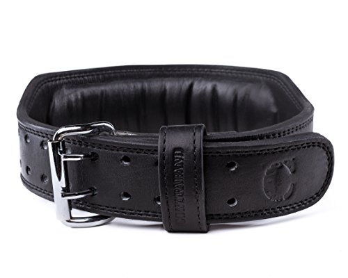 (Contraband Black Label 4340 4in 7mm Top Grain Aniline Leather Weight Lifting Belt (Black, Large) )