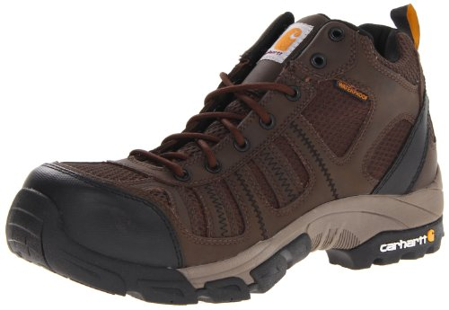 Carhartt CMH4370 Men's 4'' Lightweight Waterproof Safety Toe Work Hiker Boot,Dark Brown Leather/Brown Nylon,11 M US by Carhartt