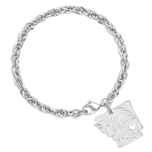 (Montana Silversmiths I Heart Arkansas State Charm Bracelet)