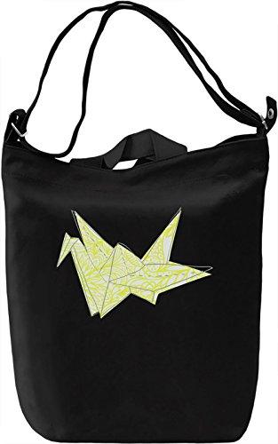 Origami Bird Borsa Giornaliera Canvas Canvas Day Bag| 100% Premium Cotton Canvas| DTG Printing|