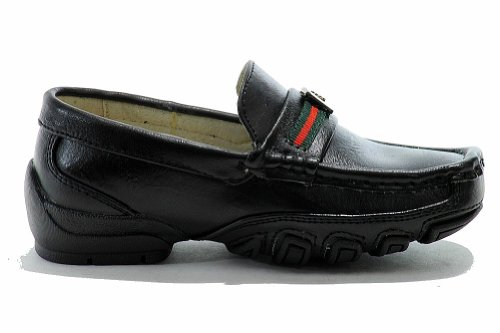 Black Strider Shoes School Boys Fashion Accelerated Loafer Uniform Easy The 1U8zz