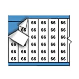 Brady TWM-66-PK Low-Profile Glossy Vinyl-Coated Polyester (B-702), Black on White, Solid Numbers Wire Marker Card (25 Cards)
