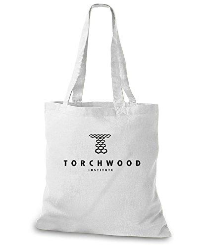 StyloBags Jutebeutel / Tasche Torchwood Institute Weiß